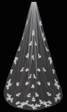 En Vogue Bridal Style V1695C - Cathedral Lace Veil - 108 Inches