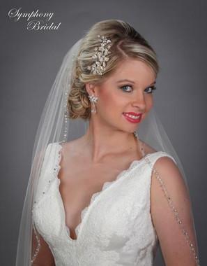 Gold Symphony Bridal Hair Comb - CB1508