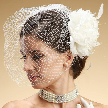 Mariell Bridals 730FV French Netting Birdcage Face Veil