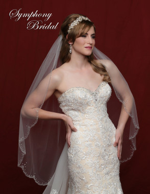 Symphony Bridal Wedding Veil - 6800VL - Scallop Beaded Edge