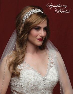 Symphony Bridal 7843CR - Crown Headband Style