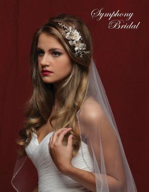 Symphony Bridal Gold Hair Clip - CL5033