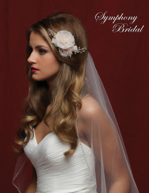 Symphony Bridal Gold & Champagne Hair Clip - CL5037