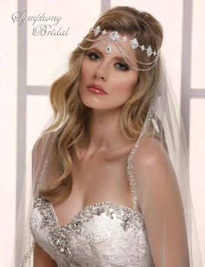 Symphony Bridal Hair Wrap - HW610