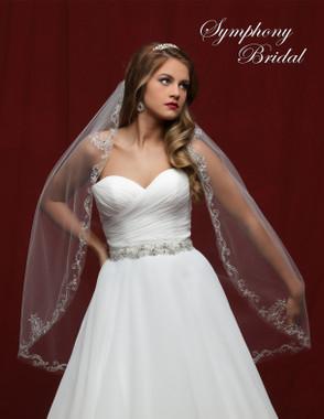 Symphony Bridal Wedding Veil - 6813VL - Embellished Veil