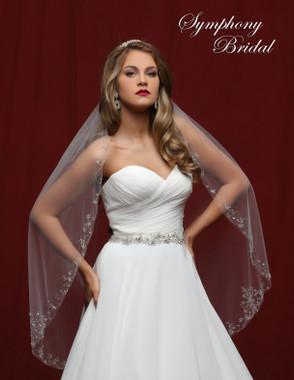 Symphony Bridal Wedding Veil - 6815VL - Embellished Veil