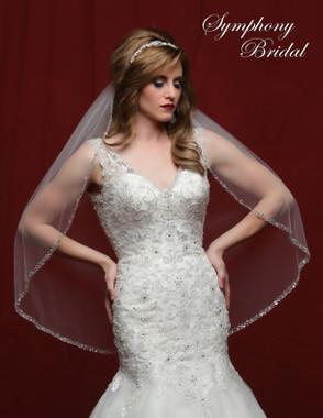 Symphony Bridal Wedding Veil - 6816VL - Embellished Veil