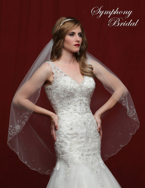 Symphony Bridal Wedding Veil - 6819VL - Embellished Veil