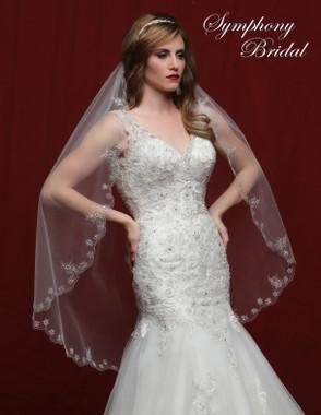 Symphony Bridal Wedding Veil - 6820VL - Embellished Veil