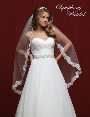 Symphony Bridal Wedding Veil - 6822VL - Lace Edge