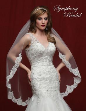 Symphony Bridal Wedding Veil - 6824VL - Lace Edge