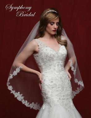 Symphony Bridal Wedding Veil - 6828VL - Lace Edge