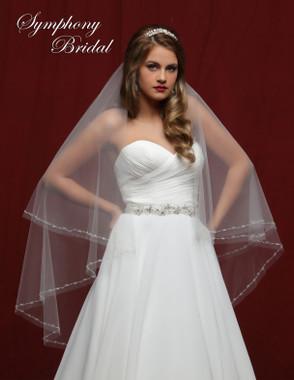 Symphony Bridal Wedding Veil - 6831VL - Embellished Veil