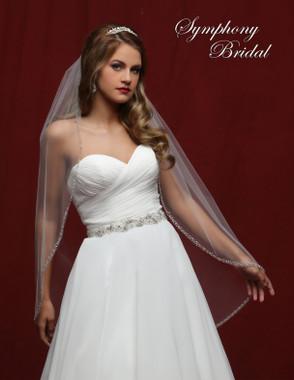 Symphony Bridal Wedding Veil - 6833VL - Embellished Veil