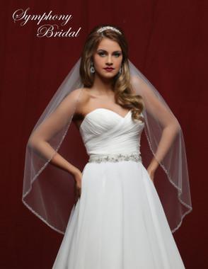 Symphony Bridal Wedding Veil - 6834VL - Embellished Veil