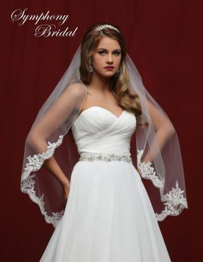 Symphony Bridal Wedding Veil - 6835VL - Lace Edge