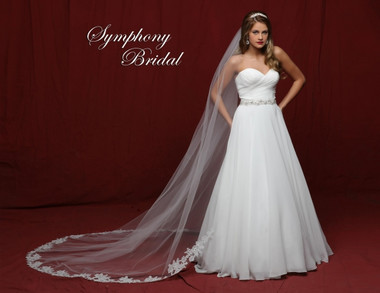 Symphony Bridal Cathedral Lace Wedding Veil - 6837VL