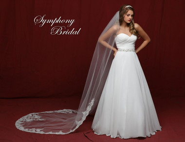 Symphony Bridal Cathedral Lace Wedding Veil - 6839VL
