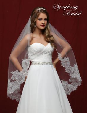 Symphony Bridal Wedding Veil - 6840VL - Lace Edge