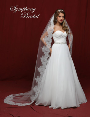 Symphony Bridal Cathedral Lace Wedding Veil - 6841VL