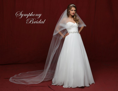 Symphony Bridal Cathedral Wedding Veil - 6845VL