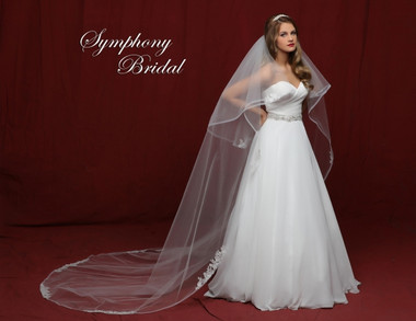 Symphony Bridal Cathedral Lace Wedding Veil - 6846VL