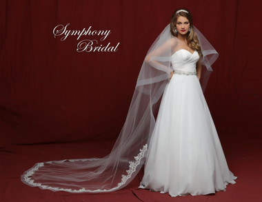 Symphony Bridal Cathedral Lace Wedding Veil - 6847VL