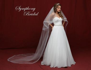 Symphony Bridal Cathedral Wedding Veil - 6848VL