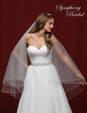 Symphony Bridal Wedding Veil - 6850VL - Embellished Veil