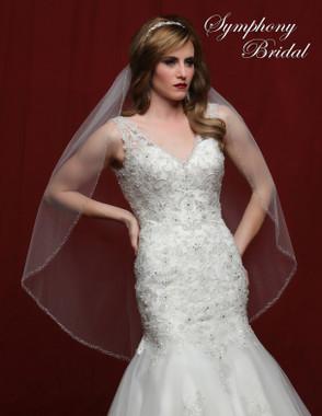 Symphony Bridal Wedding Veil - 6829VL - Embellished Veil
