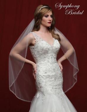 Symphony Bridal Wedding Veil - 6823VL - Embellished Veil