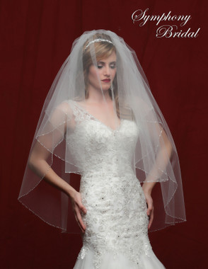 Symphony Bridal Wedding Veil - 6818VL - Embellished Veil