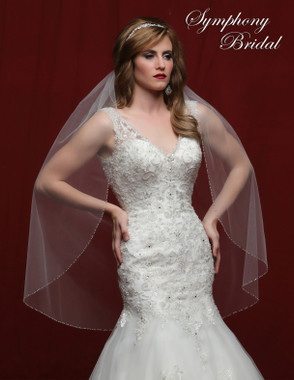 Symphony Bridal Wedding Veil - 6817VL - Embellished Veil
