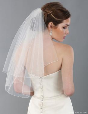 Bel Aire Bridal Veils V7340 - 2-tier shoulder length veil