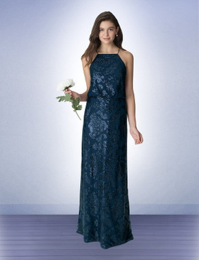 Bill Levkoff Bridesmaid Dress Style 1262 -  Sequin Pattern on Net