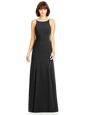 Dessy Collection Style 2972 - Black Color - Crepe - In Stock Dress