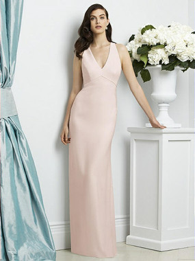 Dessy Collection Style 2938 - Blush Color - Crepe - In Stock Dress