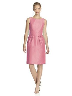 Alfred Sung Dress Style D522 - Papaya - Dupioni - In Stock Dress