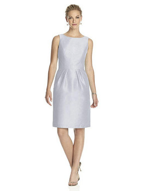 Alfred Sung Dress Style D522 - Dove - Dupioni - In Stock Dress