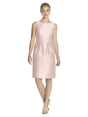Alfred Sung Dress Style D522 - Pearl Pink - Dupioni - In Stock Dress