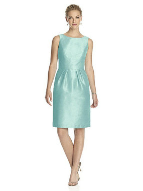 Alfred Sung Dress Style D522 - Seaside - Dupioni - In Stock Dress