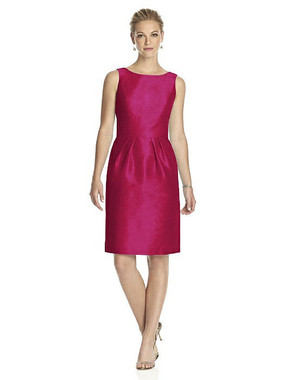 Alfred Sung Dress Style D522 - Sangria - Dupioni - In Stock Dress
