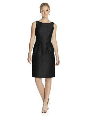 Alfred Sung Dress Style D522 - Black - Dupioni - In Stock Dress