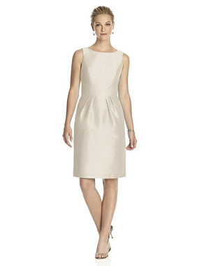 Alfred Sung Dress Style D522 - Champagne - Dupioni - In Stock Dress