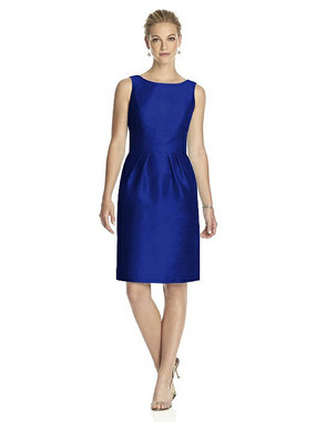 Alfred Sung Dress Style D522 - Royal - Dupioni - In Stock Dress