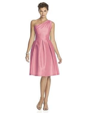 Alfred Sung Dress Style D458 - Papaya - Dupioni - In Stock Dress