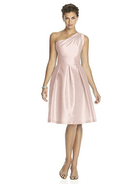Alfred Sung Dress Style D458 - Pearl Pink - Dupioni - In Stock Dress
