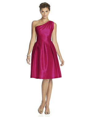 Alfred Sung Dress Style D458 - Sangria - Dupioni - In Stock Dress