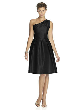 Alfred Sung Dress Style D458 - Black - Dupioni - In Stock Dress