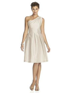 Alfred Sung Dress Style D458 - Champagne - Dupioni - In Stock Dress